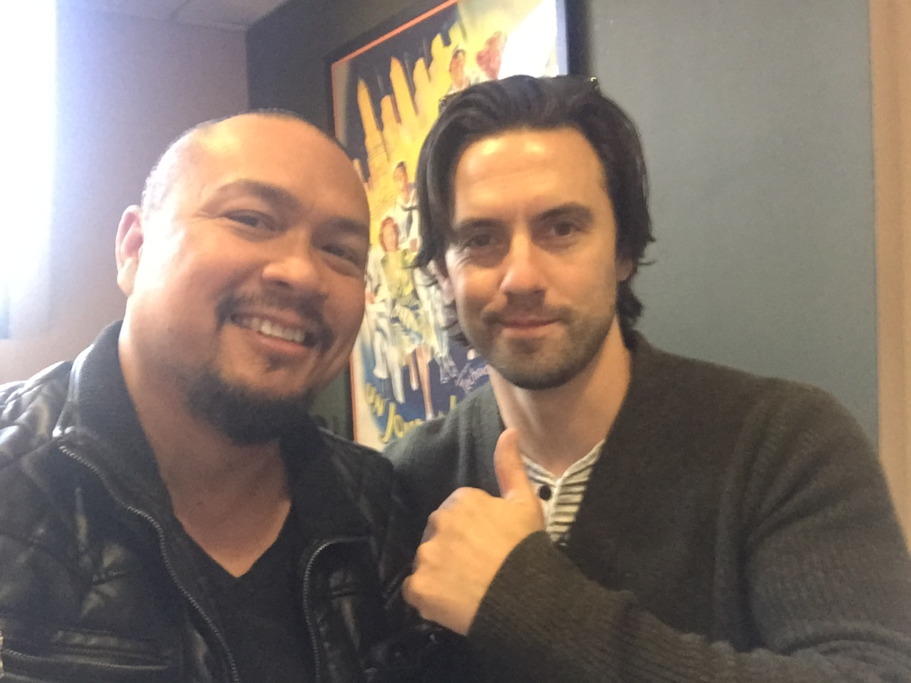 Crispin Alapag and the super talented Milo Ventimiglia #ThisIsUs #NBC